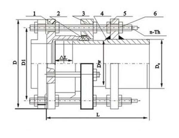 VSSJAFG型单法兰传力接头结构图.jpg